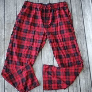 Mens Christmas Buffalo Plaid Pajama Pants XL